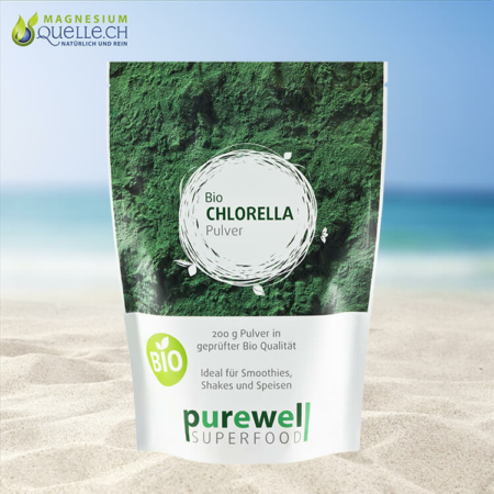 Chlorella BIO Pulver 200 g – Superfood