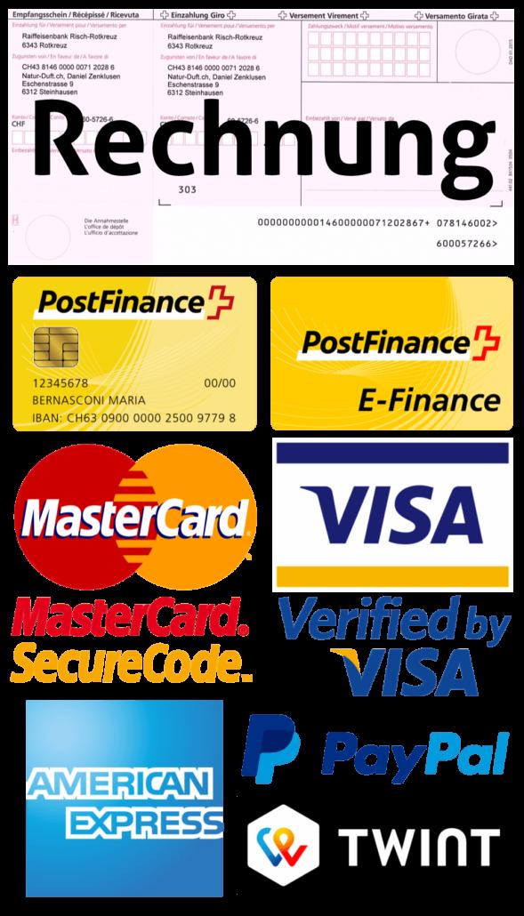 Informationen Zahlungsmöglichkeiten Versand Vertrauen