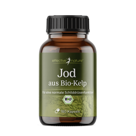 Kelp BIO mit natürlichem Jod 180 Kapseln