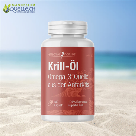 Krill Öl - Omega 3 aus der Antarktis 180 Kapseln