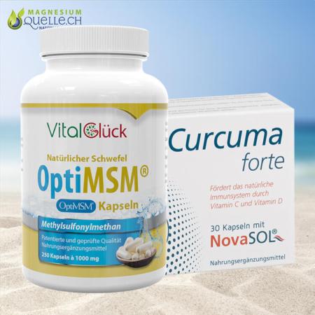 MSM OptiMSM Kapseln + Curcuma Forte