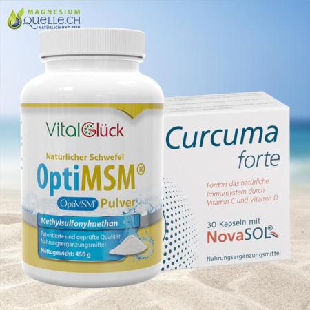 MSM OptiMSM Pulver + Curcuma Forte