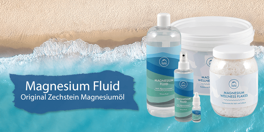 Magnesium Fluid Original Zechstein Magnesiumöl und Flakes