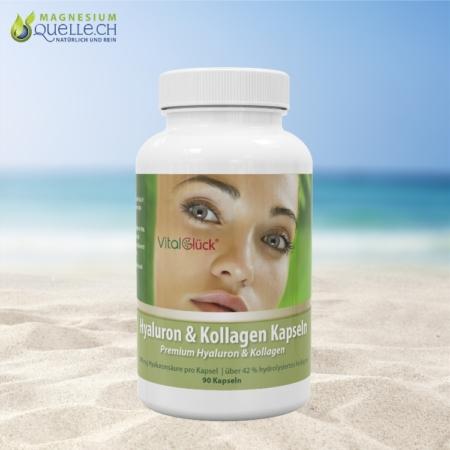 Premium Hyaluron & Kollagen – 90 Kapseln