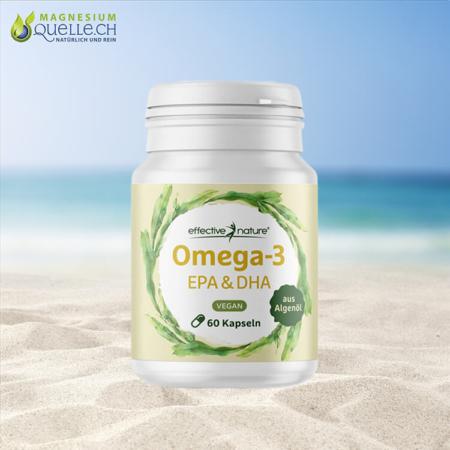 Veganes Omega-3 EPA und DHA Algenöl 60 Kapseln