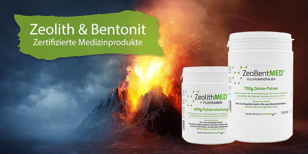 Zeolith Bentonit Zeobent Medizinprodukte